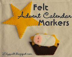 Lilyquilt: Nativity Markers for an Advent Calendar