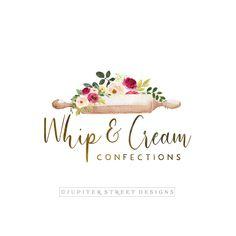 Baking Logo, Rolling Pin Logo, Cake Logo,Flower Logo,Premade Logo,Bakery Logo,Branding Bakery Business Cards, Baking Business, Cake Business, Business Card Logo, Cake Logo Design, Best Logo Design, Brand Identity Design, Branding Design, Logo Panaderia