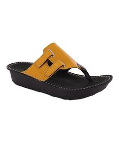 Loving this Papaya Escape Leather Sandal on #zulily! #zulilyfinds