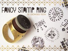 Crowded Teeth Fancy Stamp Ring by Michelle Romo, via Kickstarter.