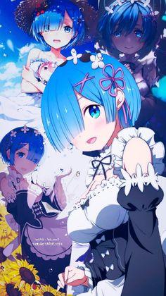 Ram y Rem wallpaper -Re zero - Maid - Blue Anime Girl Cute, Anime Art Girl, Anime Love, Manga Girl, Anime Girls, Anime Collage, Anime Artwork, Manga Kawaii, Kawaii Anime Girl