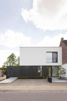 Minimalist House Design, Minimalist Architecture, Modern House Design, Modern Architecture, Village House Design, Village Houses, Bungalow, Modern House Facades, Modern Townhouse