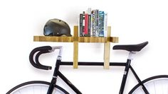An Italian shelf modifies into a sensible bicycle rack, or book ends.   Read more http://www.interiordesign2014.com/architecture/wooden-book-shelf-by-italian-designer/