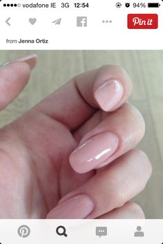 Nude square shape nails