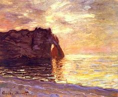 Etretat. The End of the Day 1885 - Claude Monet