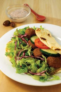 Falafel Pita-wiches with Creamy Kalamata Olive Spread | Made Just Right by Earth Balance