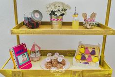 Fiesta de cumpleaños para niña. Decoración candy bar.