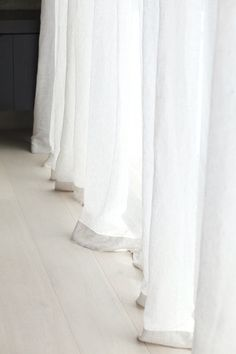 Soft, sheer linen curtains