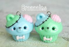 Porcelain In China History Key: 9386172750 Polymer Clay Cupcake, Polymer Clay Kawaii, Polymer Clay Animals, Fimo Clay, Polymer Clay Charms, Polymer Clay Creations, Polymer Clay Art, Clay Projects, Clay Crafts