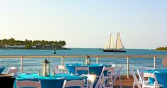 Dining on the water's edge in Key West.
