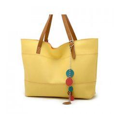 Trendy Yellow Shoulder Bag