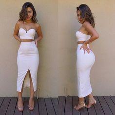 $23.00 | Fashion sleeveless open fork two-piece dress 2801006