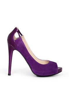 fall 2012, Burak Uyan, shoes, high heels, pumps, purple