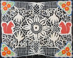 Red+Squirrel+(Lace+Series)+-+Robert+Zakanitch