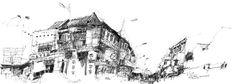 Chulia St- Carnavon St, by Ch'ng Kiah Kiean