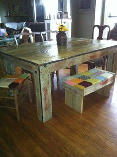 Barn wood table and chairs