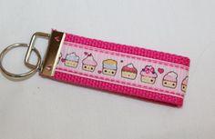Super Kawaii Cupcake Keychain Key Fob by RedShirtCreations on Etsy