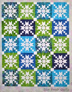 What do you do when you cant make up your mind? Stepping Stones quilt in Positive setting...