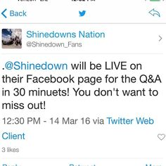#Shinedown   Barry Kerch Brent Smith Eric Bass Shinedown Shinedown Nation Shinedowns Nation Zach Myers