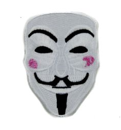 - V for Vendetta Iron On Patch - 100% Cotton - Well made, greatly embroidered…