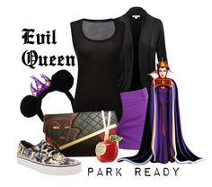 """""""Evil Queen: Park Ready"""" by laniocracy on Polyvore featuring J.Crew, ATM by Anthony Thomas Melillo and disneyland"""