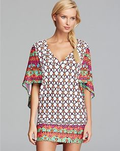 Trina Turk Venice Beach Cover Up Tunic Women - Contemporary - Bloomingdale's Swimsuit Cover Up Dress, Trina Turk Swim, Tunics Online, Trina Turk Dresses, Beach Cover Ups, Mom Dress, Venice Beach, Summer Dresses, Clothes For Women