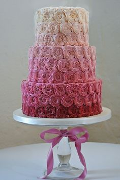 Perfect Pink Ombre Cake