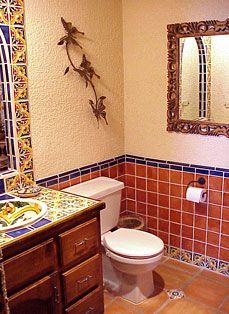mexican style bathrooms   Mexican Style Powder Room