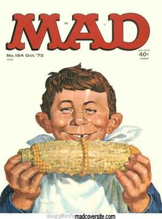 mad alfred e neuman, 1972 Comic Book Covers, Comic Books, Alfred E Neuman, Mad Magazine, Magazine Covers, Magazine Rack, Nostalgia, Mad World, You Mad
