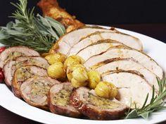 Roasted Turkey Two Ways: Slow-Braised Stuffed Legs and Whole Roasted Breast