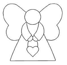 Enkelin kaava Angel Crafts, Christmas Projects, Felt Crafts, Christmas Crafts, Felt Christmas Decorations, Felt Christmas Ornaments, Christmas Angels, Applique Templates, Applique Patterns