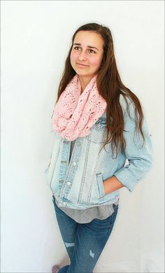 Knit Cowl scarf Light Neck warmer for Women light by Ankleknits