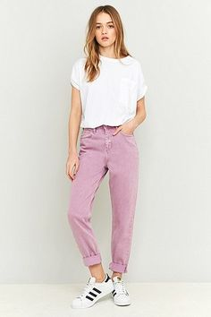 BDG – Mom Jeans in Flieder - Urban Outfitters