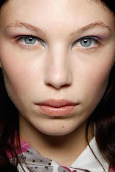 Michael van der Ham Spring 2012. http://votetrends.com/polls/369/share #makeup #beauty #runway #backstage