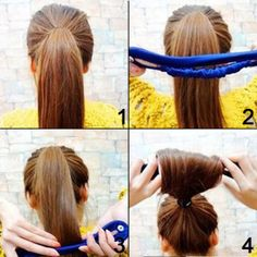 Shells 2PCS Black Color Cloth Magic Clip French Twist Hairstyle Donut Bun Former Maker Hairstyle Must-haves Tool