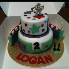 Buzz Lightyear Cake - This is awesome...even though he isn't 2 anymore..his name is Logan!