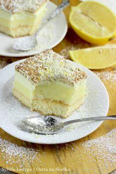 Sweet Desserts, Sweet Recipes, Delicious Desserts, Dessert Recipes, Yummy Food, Lemon Cheesecake Recipes, Chocolate Cheesecake Recipes, Polish Desserts, Polish Recipes