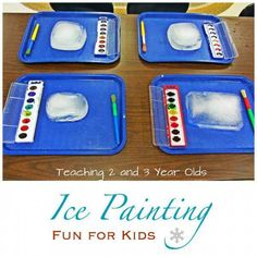 This is a wonderful art and sensory idea for kids of all ages, and it would be great no matter what the weather is outside. If it is hot, it can be done outside and the kids can see what happens as...