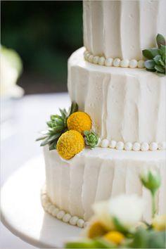 billy button wedding cake