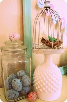 turn upside down and use as a stand. : turn upside down and use as a stand. Shabby Chic Cottage, Cottage Style, Thrift Shop Finds, Spring Has Sprung, Vintage Love, Milk Glass, Colored Glass, Diy Crafts, Fun Ideas