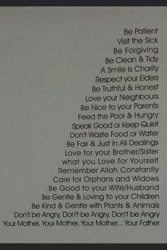 Teachings of Prophet Muhammad (PBUH)