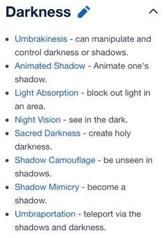 Could be how some of Anima's powers would be like… Darkness powers. Could be how some of Anima's powers would be like… Book Writing Tips, Creative Writing Prompts, Writing Words, Writing Resources, Writing Help, Writing Skills, Writing Ideas, Magia Elemental, Elemental Powers