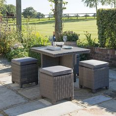 Buy White Wash KETTLER Palma 4 Seater Garden Cube Table and Chairs Set from our Garden Furniture Sets range at John Lewis & Partners. Free Delivery on orders over Garden Furniture Sets, Furniture Care, Outdoor Furniture Sets, Balcony Furniture, Table And Chair Sets, A Table, Wicker Furniture Cushions, Chair Cushions, Cube Table