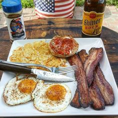 Rise n' shine! Breakfast is brought to you this morning by @traegerman_bbq ! This beautiful breakfast was made on Bennie K's @traeger smoker. Can't get this spread at your local Mc D's. Code 3 products used - 5-O sweet and zesty blend. Available at www.code3spices.com  We donate portions of every sale to First Responder and #Military Organizations. Thank you for spicing it up for those who serve with www.code3spices.com  No Msg - No Gluten - No High Fructose Corn Syrup - Only 3 Grams Of…