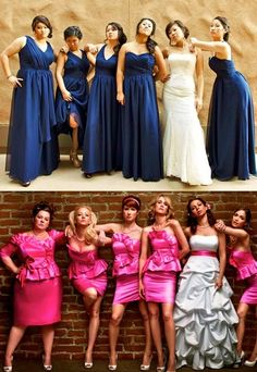 Bridesmaids pose (;