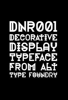 DNR001 Typeface by Andreas Leonidou
