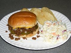 Loose Meat sandwich - Iowa Maid - Rite sandwich  - These taste like a good old fashioned hamburger.  They are so good!  We usually double the recipe and use the meat in Stuffed baked potatoes on the second night.