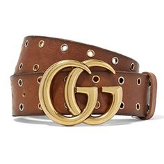 Gucci-Eyelet-Embellished-Embossed-Leather-Waist-Belt