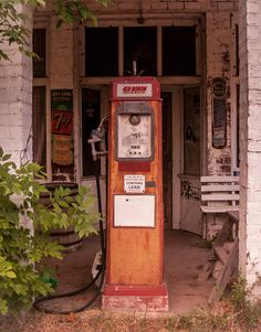 Rustic Photography, Illinois Gas Pump, Abandoned Town, Gritty Paint, Rural…