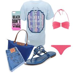 Such a cute outfit for a day at the beach or the lake!